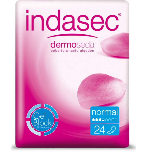 INDASEC ABSORVENTE INCONTINENCIA LEVE 150ML NORMAL 24