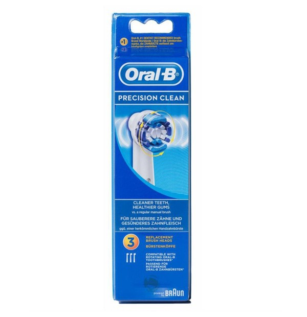 CEPILLO DENTAL ELECTRICO RECARGABLE ORAL-B PRECISION CLEAN RECAMBIO EB 17-3 3 U