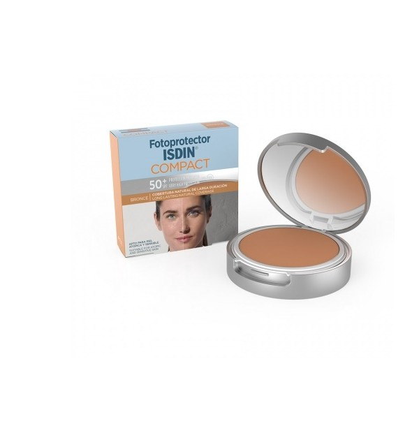 FOTOPROTECTOR ISDIN COMPACT 50+ MAQUILLAJE OIL-FREE 10 G BRONCE